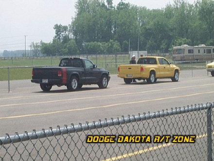 Above: Dodge Dakota R/T's, photo from 2000 Chrysler Classic Columbus, Ohio.
